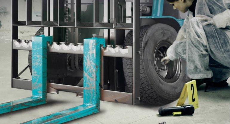 I rischi connessi alla compresenza di carrelli elevatori e persone nel magazzino.